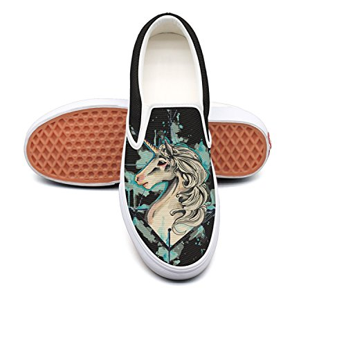 Man Beautiful Cartoon Unicorn Canvas Shoes Casual Loafers Shoes Sneaker by Fangtinge