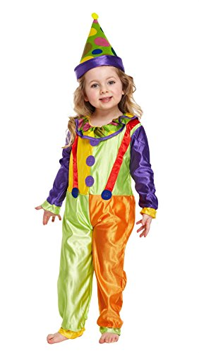 MA ONLINE Childrens Circus Joker Clown Outfit Toddler Halloween Fancy Dress Party Costume 3 Years ()