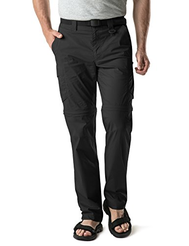 CQR Men's Convertible Pants Zipp Off Stretch Durable UPF 50+ Quick Dry Cargo Shorts Trousers