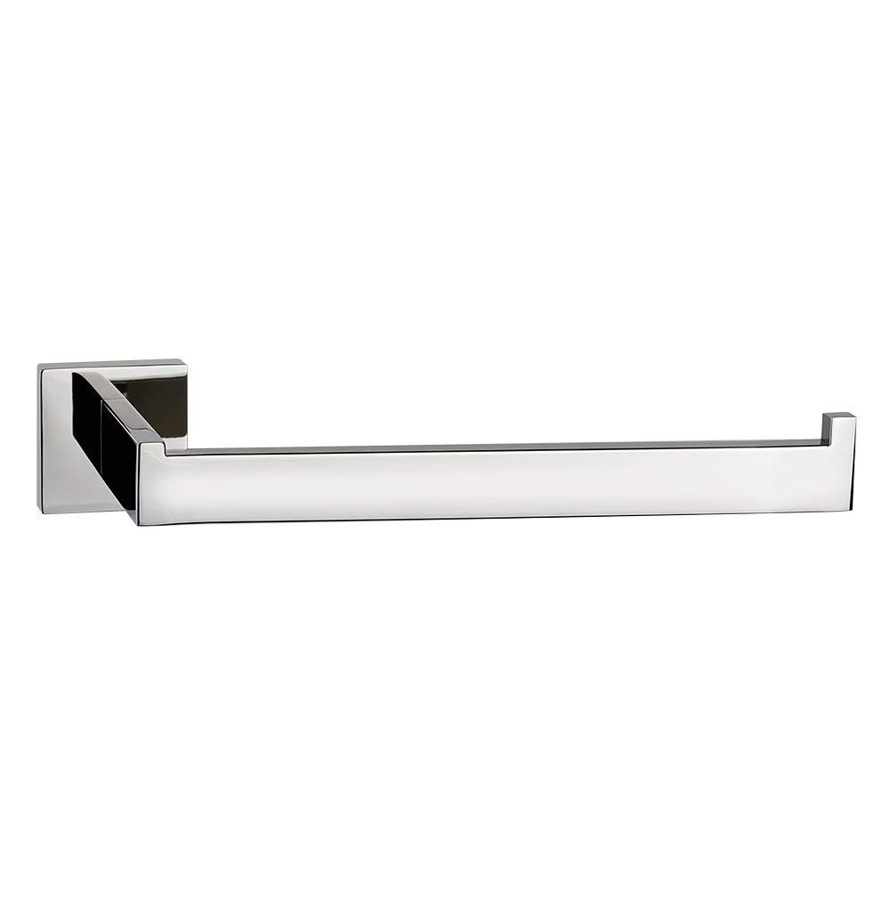 LuckIn 10 Inch Towel Ring Chrome Polished, Towel Bar Stainless Steel Wall Mounted Robe Metal Hanger, Screw Hand Towel Holder for Bathroom and Kitchen