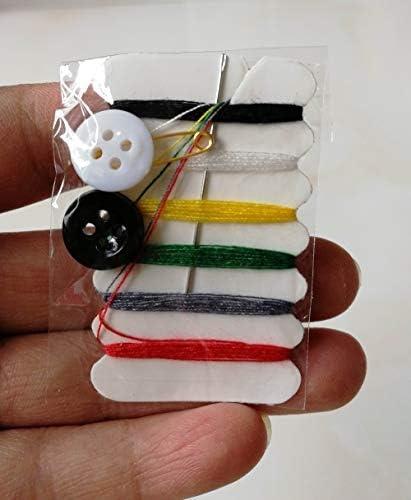SHUIQUAN 30セットのポータブルミニソーイングキット針糸ボタンピンの設定トラベル家庭用ツールキットホテルハンドソーイングバッグ