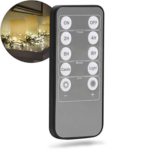 Apothecary Universal Remote for LED String Lights, Multifunction Wireless Controller for Compatible Lighting, On/Off, Automatic Timers, Mode Select, Dim Control, Convenient Home DÈcor and Lighting