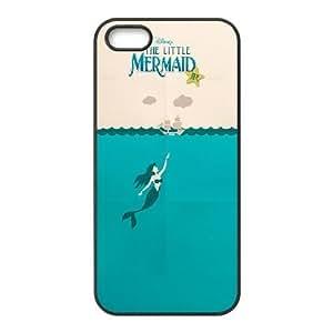 Generic for iPhone 5 5s Cell Phone Case Black The Little Mermaid Custom HFOKHJHLK3542