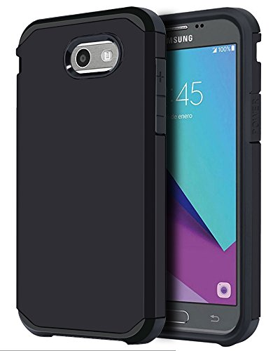 For Samsung Galaxy J3 Emerge / J3 Prime / J3 Mission / J3 Eclipse / J3 2017 / J3 Luna Pro / Sol 2 / Amp Prime 2 / Express Prime 2 Case, OEAGO Shockproof Drop Protection Rugged Armor Case Cover (Black)