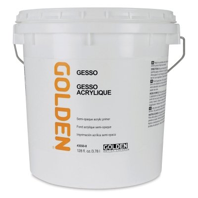 Golden 0003550-8 128oz. - 3.78 Liter - Traditional Gesso Pail - White by Golden