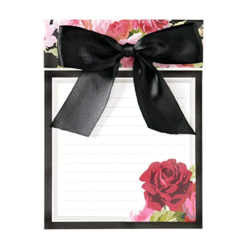 Anna Griffin Rose Black Notepad with Bow, Large 6
