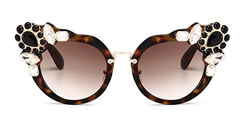Slocyclub Women Stylish Jewel Cateye UV400 Sunglasses with Keyhole - Sunglasses Womens Ebay