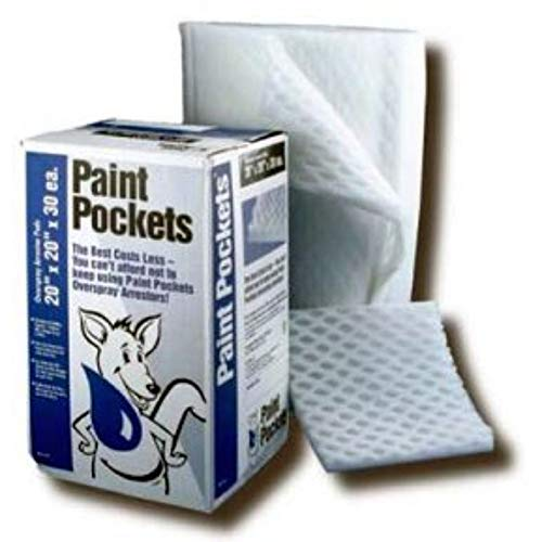 Paint Pockets White Overspray Collector Pads 20x25-2 Pack
