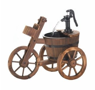 SKB Family Tricycle Water Fountain wooden iron water pump garden outdoor by SKB family (Image #1)