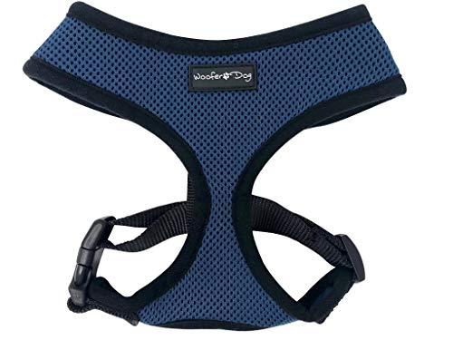 - Dog Puppy Mesh Adjustable Harness for Small Breeds (Medium 15.5-20