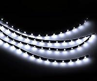 Zento Deals 30cm White LED Car Flexible Waterproof Light Strips