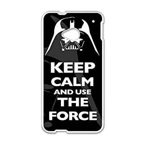 keep calm and use the force Phone Case for HTC One M7