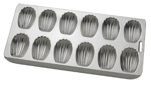 Mrs. Anderson's Baking 93230 Anderson's Nonstick 12-Cup Madeleine Pan, Tinned Steel, 15.75 x 8-Inches, Silver
