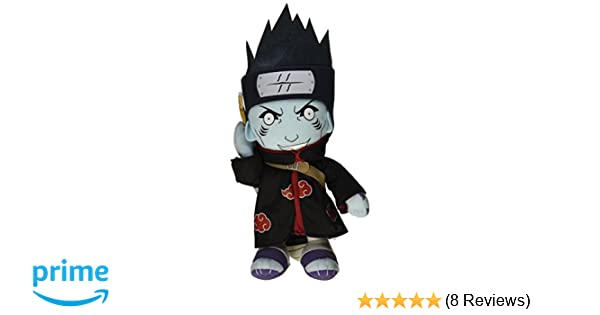 "1x Authentic Naruto Shippuden 10/"" Grim Reaper Hidan GE-8973 Great Eastern Plush"