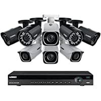 Lorex 8 channel NR9082 4K home security system with 4 8MP 4K LNB8111B Bullet Cameras and 4 4MP 2K LNB4321B Bullet Cameras