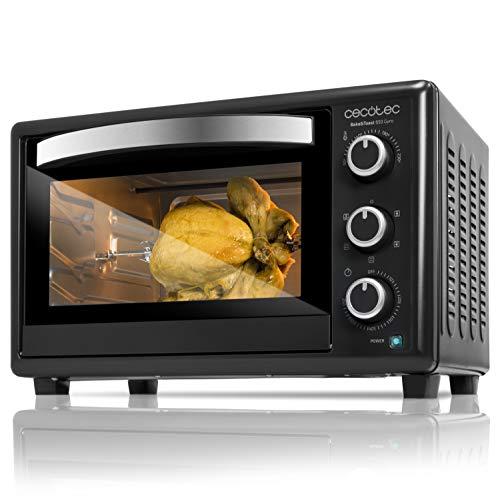 Cecotec Bake&Toast 650 Gyro – Horno Conveccion Sobremesa, capacidad de 30 litros, 1500 W, 5 Modos, Temperatura hasta…