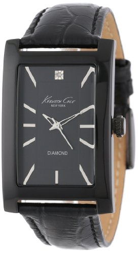 - Kenneth Cole New York Men's Quartz Stainless Steel Case Leather Strap Black(Model:KC1985)