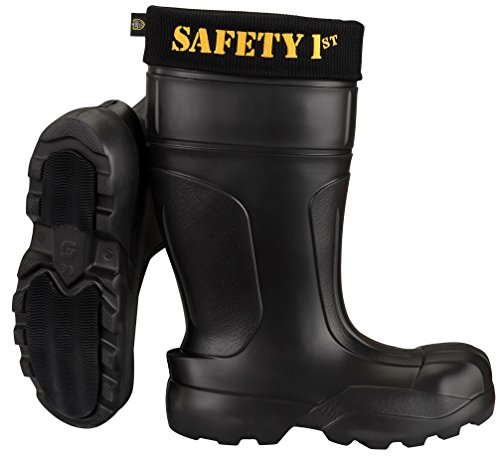 Leon Boots Co. Ultralight Men's Safety 1st EVA Non-Slip Boots, Size US 12-1/2, EU 46, Black by LBC Leon Boots Co (Image #1)