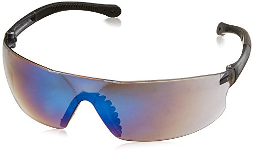 Radians Blue Mirror Safety Glasses, Scratch-Resistant, Wraparound (Blue Mirror Safety Glasses)