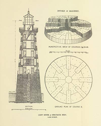 ClassicPix Photo Print 8x10: Light-House at Spectacle Reef, Lake Huron, ()
