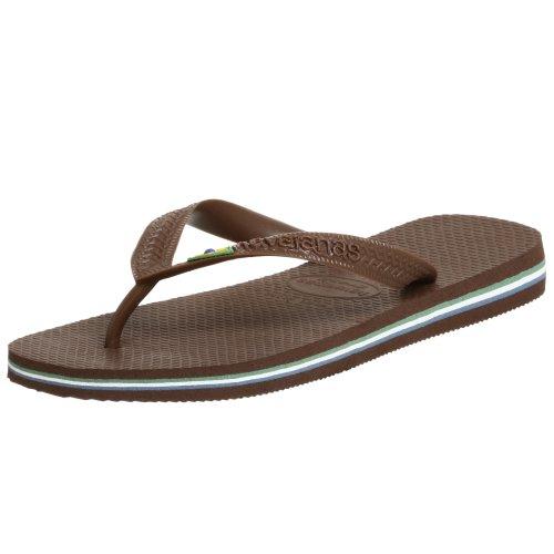 Brown Havaianas Flip Women Flop Rubber Brasil Sole Thong 0wUwq7Ag