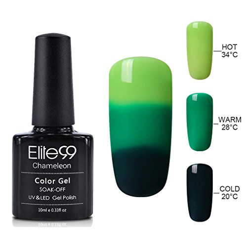 Elite99 Soak Off Gel Nail Polish UV LED Three Color Thermal