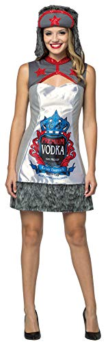 Rasta Imposta Women's Vodka Dress w/Hat Funny Theme Party Halloween Fancy Costume, OS (Up to 12) ()