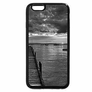 iPhone 6S Case, iPhone 6 Case (Black & White) - wonderful sunset at sea