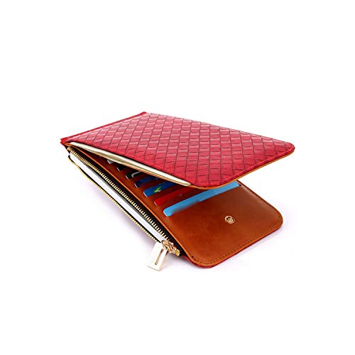 Ladies Purse Top Mini Wallet Women Wallet Purse Small Clutch Red Wallets And Purses Money Clip,Red