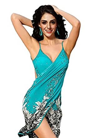 Ninimour Women's Negril Beach Cover-up One Size (Blue)
