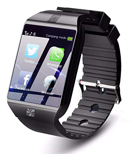 Time Up Camera,Bluetooth,SIM Card Adroid Phone Supported Unisex Smartwatch-Smart-B
