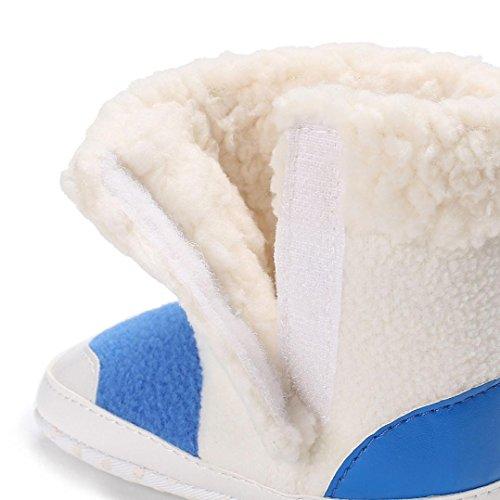 Igemy 1 Paar Säugling Kleinkind Neugeboren Baby Mädchen Jungen Soft Sohle Stiefel Warming Schuhe Blau