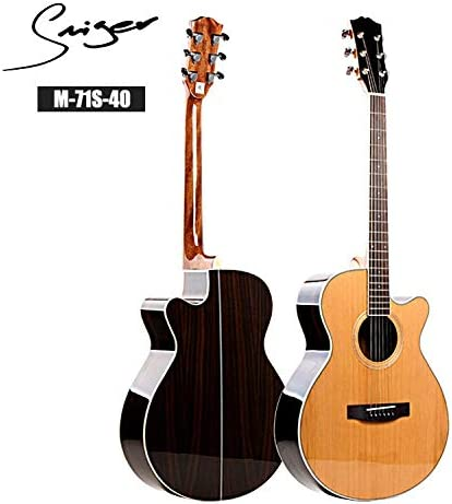 HVTKLN 単段の弾性表面ギター40/41インチの松ローズウッドベニヤ電気ボックス HVTKLN (Color : Ballads, Size : 40 inch)