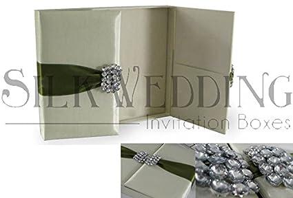 Amazon Superbly Refined Silk Wedding Invitation Box With