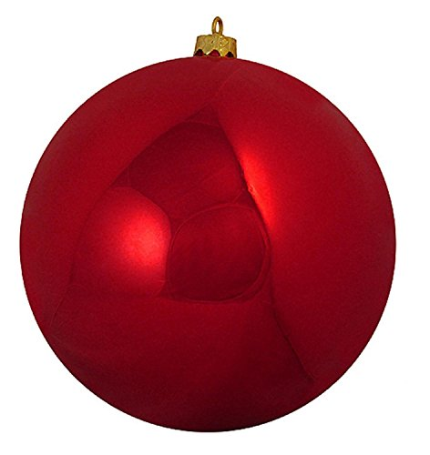 Shiny Red Hot Commercial Shatterproof Christmas Ball Ornament 6