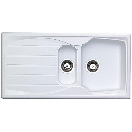 Astracast Kitchen Sink - Astracast Sierra 1.5 Bowl Reversible Kitchen Sink in White by Astracast