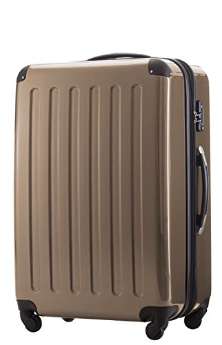 28' Spinner (HAUPTSTADTKOFFER - Alex - Luggage Suitcase Hardside Spinner Trolley Expandable 28¡° TSA Champagne)