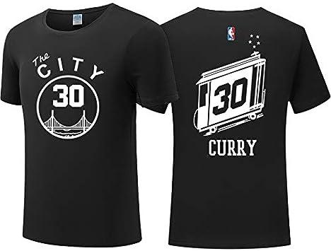 Camiseta de Hombre de la NBA Golden State Warriors Stephen Curry Baloncesto Camiseta de Manga Corta Vintage Entrenamiento de Baloncesto Sudadera Transpirable (Color : Black, Size : XXL): Amazon.es: Deportes y aire