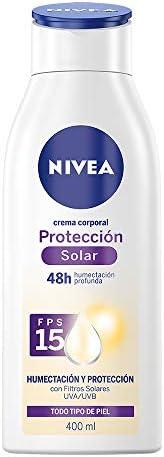 Nivea Crema Corporal Humectante Todo Tipo De Piel Protección Solar Fps 15 , 400ml