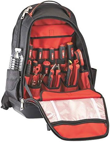 Milwaukee 48-22-8200 1680 Denier 35 Pocket Jobsite Backpack w Laptop Sleeve and Molded Plastic Base