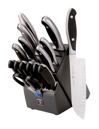 J.A. HENCKELS INTERNATIONAL Forged Synergy 16-pc Knife Block Set (Knife Block Dishwasher Safe)