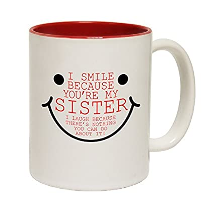 Amazon.com: Christmas Gift Idea for Sister I Smile Because You\'re My ...