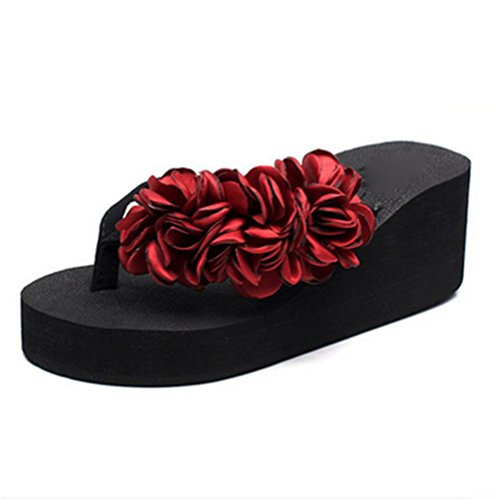 flop Clip La Antideslizantes Zapatos oras Flip Los De Se Playa Pengweisandalias Alto 1 Flor Manera Las Pies Del Tal¨®n BOqZwOnAWH