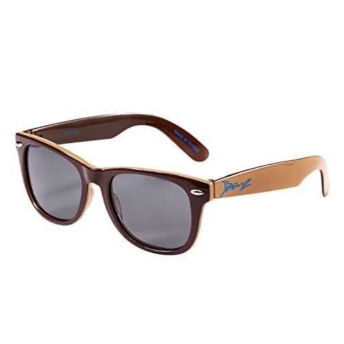 Baby BanZ: JBanZ Dual: Brown/Tan | 100% UV Protection | Age: 4-10 - Ray Banz
