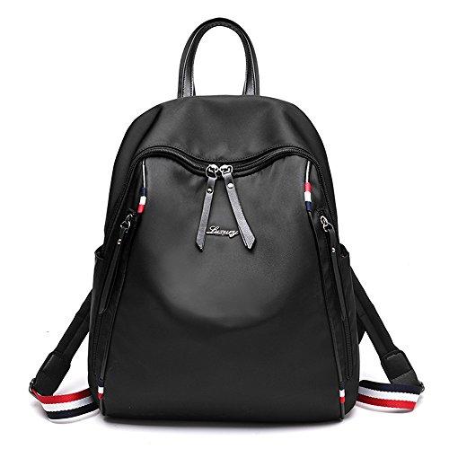 RFVBNM Mochila de las mujeres mochila de moda bolsas de alta calidad para mujer mochila hombro mochila oxford de la señora de la lona mochila momia mejor regalo para niñas, verde Negro