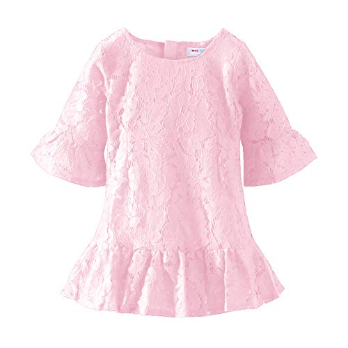 Mud Kingdom Little Girls Pink Dresses Lace Boutique Size 6