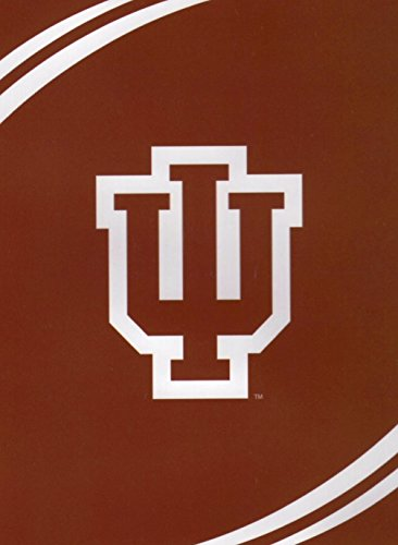 NCAA Indiana Hoosiers Force Royal Plush Raschel Throw Blanket, 60x80-Inch ()