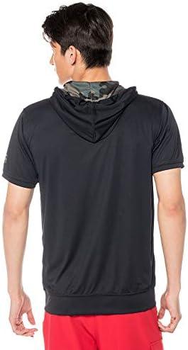 BILLABONG(ビラボン) 半袖 ラッシュガード パーカー メンズ RASH ZIP UP PARKA 品番:AJ011-870 Lサイズ BKC(ブラックカモフラージュ)
