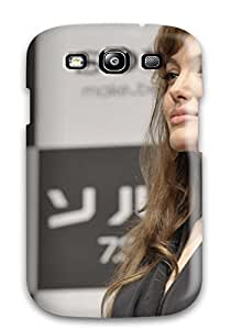 Awesome Angelina Jolie New Photos Flip Case With Fashion Design For Galaxy S3
