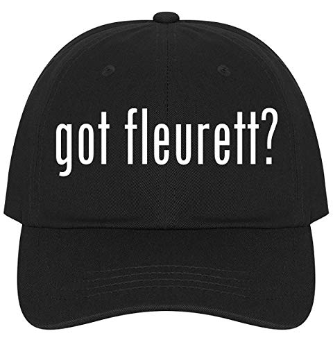 The Town Butler got Fleurett? - A Nice Comfortable Adjustable Dad Hat Cap, Black